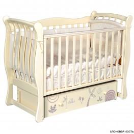 Детская кроватка ByTwinz Tiffany Сафари (маятник универсальный)