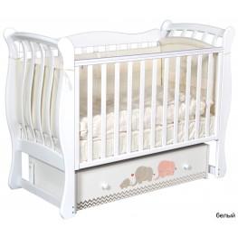 Детская кроватка ByTwinz Tiffany Мэри серый (маятник универсальный)
