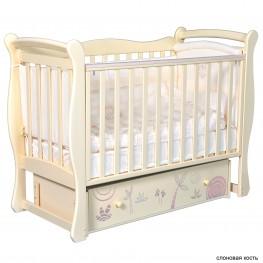 Детская кроватка ByTwinz Camellia Сафари (маятник универсальный)
