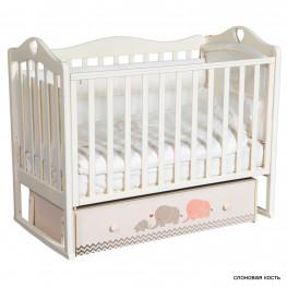 Детская кроватка ByTwinz Venecia Мэри серый (маятник универсальный)