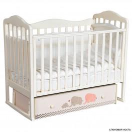 Детская кроватка ByTwinz Milania Мэри серый (маятник универсальный)