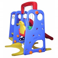 Детский комплекс Капризун с качелями и прямой горкой