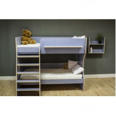 Кровать двухъярусная Р434 Капризун 3 лен голубой