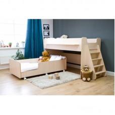 Двухъярусная кровать Р444 Капризун 7 дуб млечный