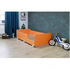 Кровать подростковая Р439 Капризун 4 оранжевая