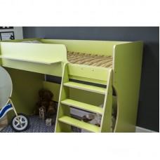 Кровать чердак Р432 Капризун 1 лайм
