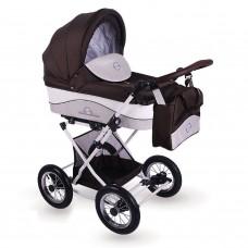 Детская коляска 2 в 1 LONEX JULIA BARONESSA NEW (BROWN)