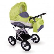 Детская коляска 2 в 1 LONEX JULIA BARONESSA NEW (LIME)