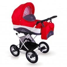 Детская коляска 2 в 1 LONEX JULIA BARONESSA NEW (RED)