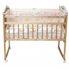 Кроватка Malika Melissa 2 Lux натуральный лак — белый