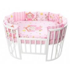 Комплект в кроватку Золотой Гусь Пони 17 предметов розовый