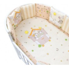 Комплект в кроватку Золотой Гусь Пони 17 предметов бежевый