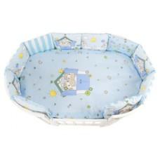 Комплект в кроватку Золотой Гусь Пони 17 предметов голубой