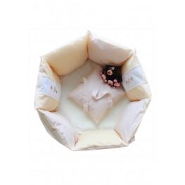 Бортики-подушки в кроватку для новорожденных Кантри Сонный Гномик