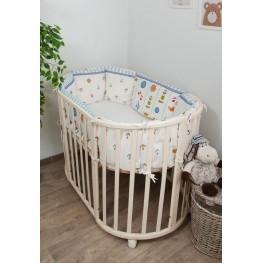 Бортики-подушки в кроватку для новорожденных Маяк Сонный Гномик