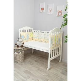 Бортики-подушки в кроватку для новорожденных Акварель Сонный Гномик Голубой