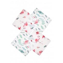 Муслиновые салфетки 40х36 см Сонный Гномик Фламинго