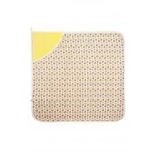 Пеленка с уголком из махровой ткани Сонный Гномик Солнечно-желтый