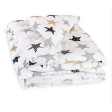 Одеяло стеганое Холлофайбер Сонный Гномик бежевый с рисунком