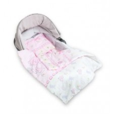 Комплект для коляски прогулочный Акварель Сонный Гномик Нежно-розовый