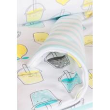 Трикотажный плед Мохито Сонный Гномик Белоснежный с рисунком