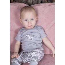 Боди для малыша Зэбби Сонный Гномик Серый
