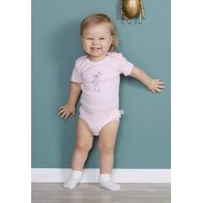 Боди для малыша Флэмми  Сонный Гномик Розовый