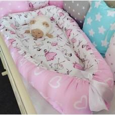 Комплект в кроватку Дуэт-2 «Балеринки сердечки»