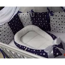 Комплект в кроватку Дуэт-2 «Синие звёзды»