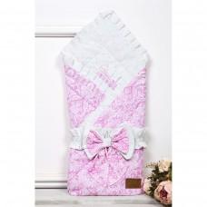 Конверт одеяло на выписку «Дамаск розовый»