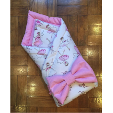 Конверт одеяло на выписку «Балеринки белый»