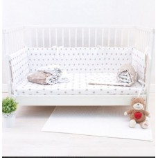 Комплект в кроватку Снежинки капучино