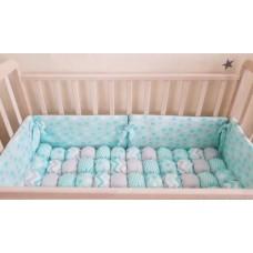Комплект в кроватку Сияние мята