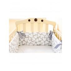 Бортики в кроватку «Микки серые»