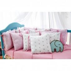 Комплект в кроватку «Розовые звёздочки»