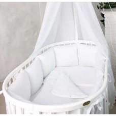 Комплект в круглую кроватку  «Ангелочек»