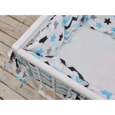 Бортики в кроватку «Голубые звёзды»