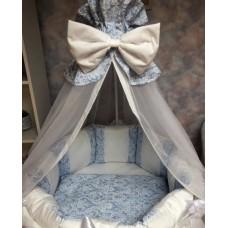 Бортики в кроватку «Дуэт голубой»