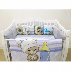 Комплект в кроватку  «Мишка мальчик»