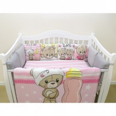 Комплект в кроватку «Мишка девочка»