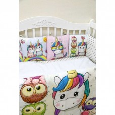 Комплект в кроватку «Единорожки»