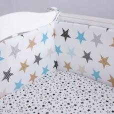 Бортики в кроватку «Голубое сияние»