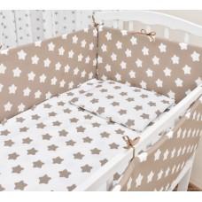 Бортики в кроватку «Капучино со звёздами»