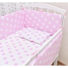 Бортики в кроватку «Розовые звёзды»