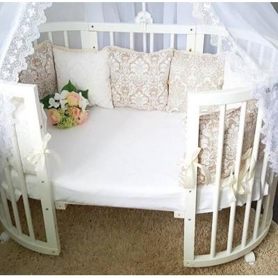 Набор: кроватка трансформер 7в1 + матрацы + бортики