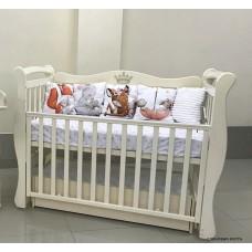 Кроватка Кедр Viola 1 декор, универсальный маятник, ящик