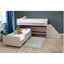 Двухъярусная кровать Красная Звезда Капризун 7 Р444-2 с лестницей с ящиками