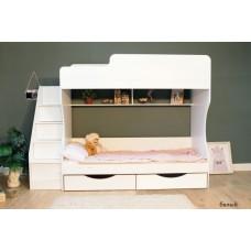 Двухъярусная кровать Красная Звезда Капризун 6 Р443 с ящиками