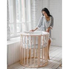 Круглая кроватка Агат Родея Стандарт 4в1 (Папа Карло 1/3 4в1 )