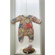 Комбинезон с вязанным цветочком Jolly Baby